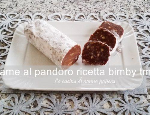Salame di cioccolato con pandoro bimby