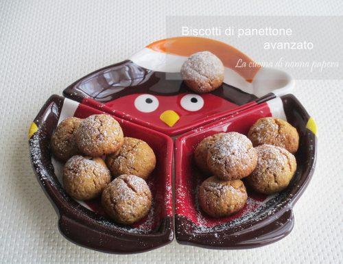 Biscotti di panettone avanzato