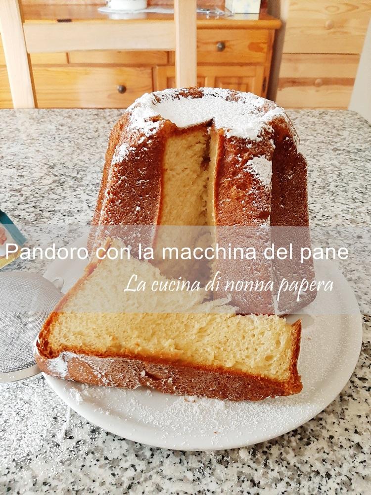 Pandoro con la macchina del pane