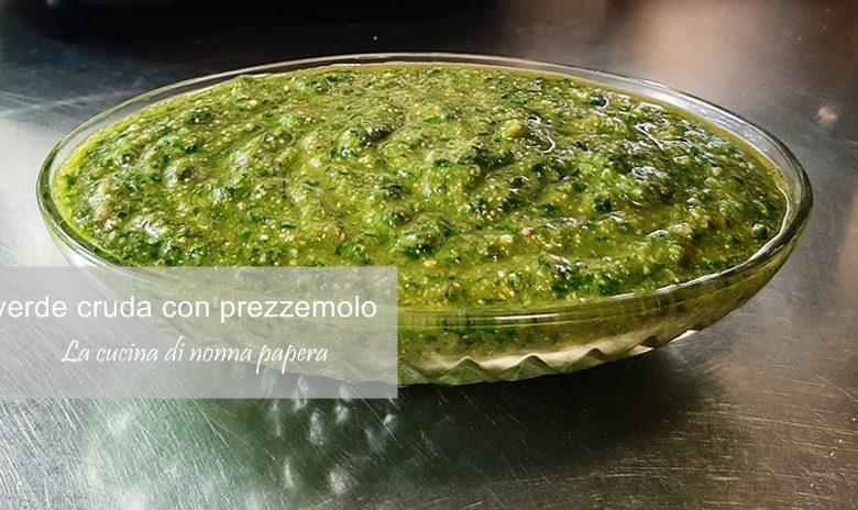 Salsa verde al prezzemolo e alici