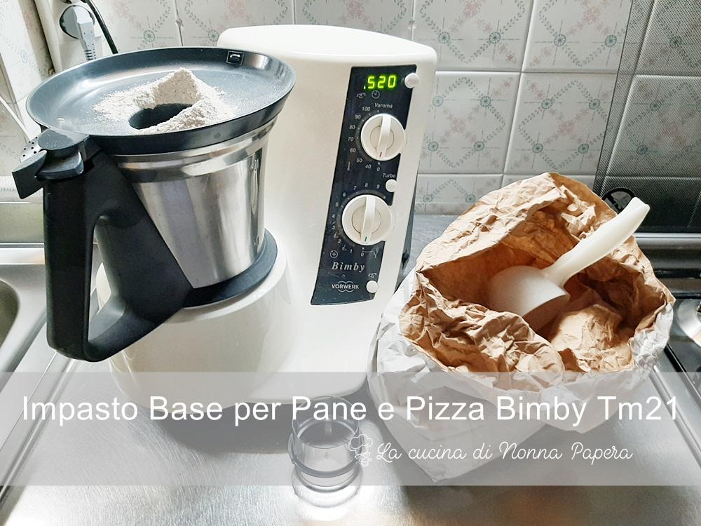Ricetta Impasto Pizza Bimby Tm21.Pasta Per Pane O Pizza Bimby Ricetta Base Per Tm21