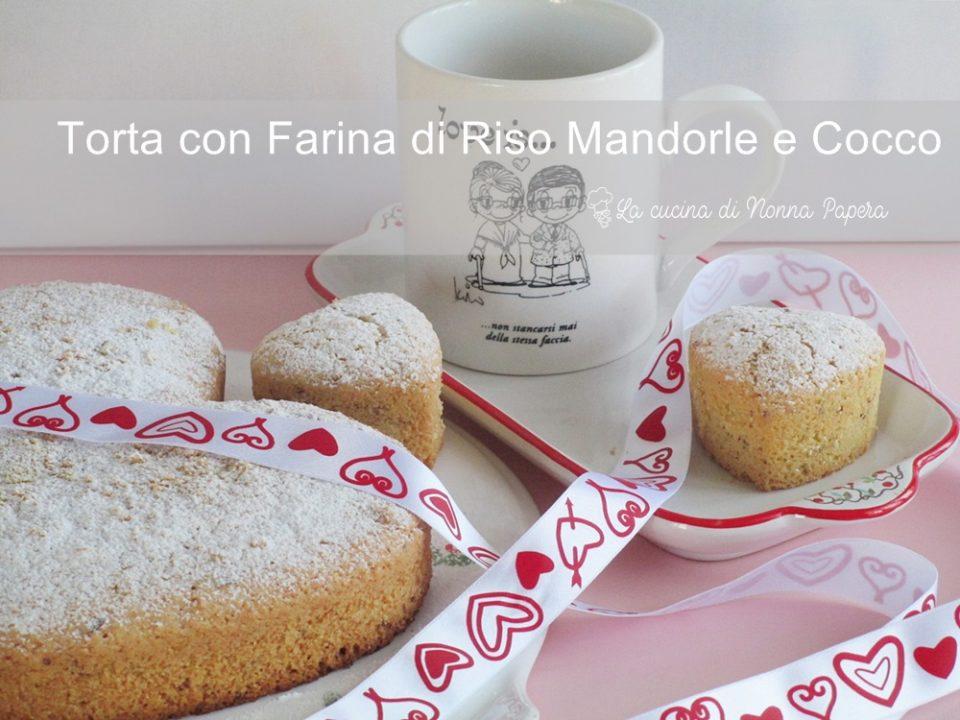 torta con farina di Riso Mandorle e Cocco