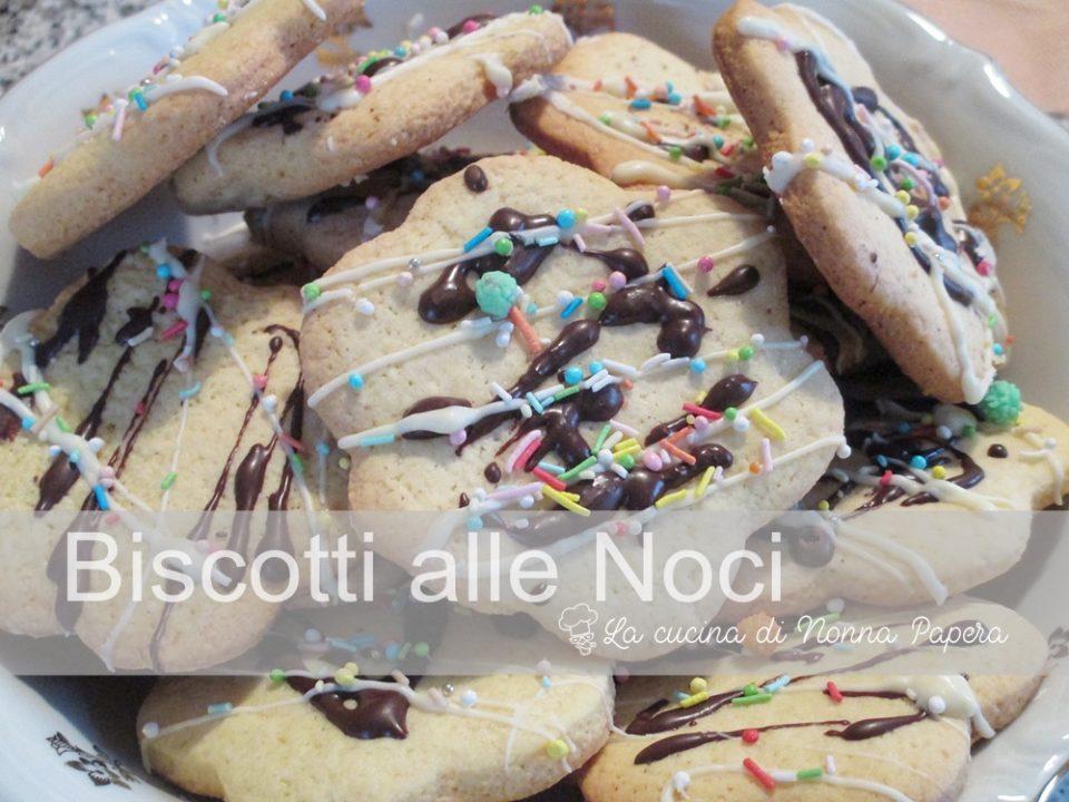 Biscotti alle Noci senza uova