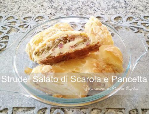 Strudel Salato con Scarola e Pancetta