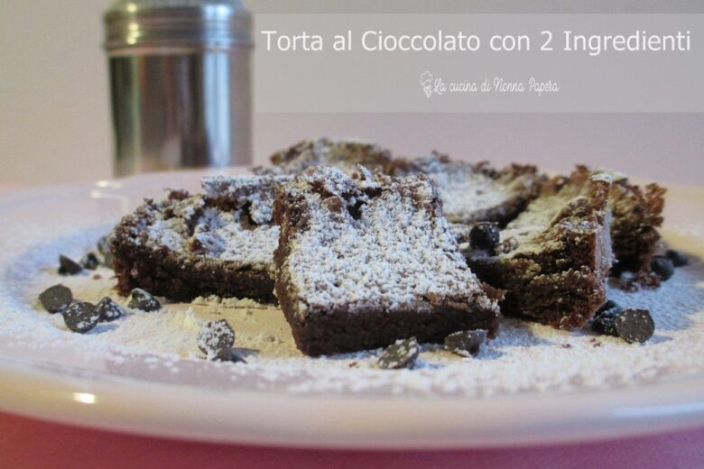 Torta al Cioccolato con 2 Ingredienti