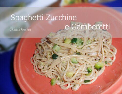 Spaghetti Zucchine e Gamberetti