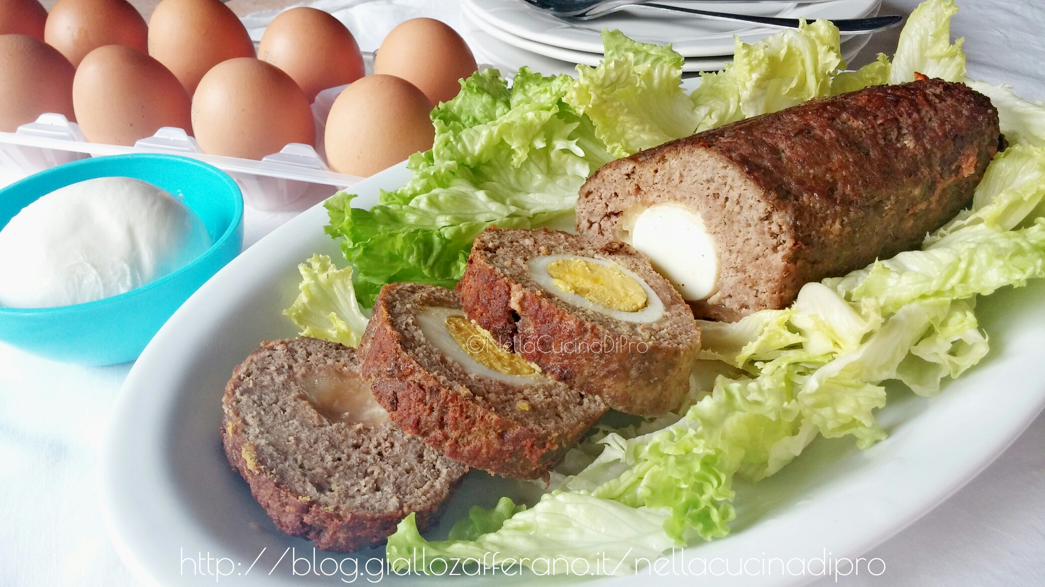 Polpettone ripieno con uova sode