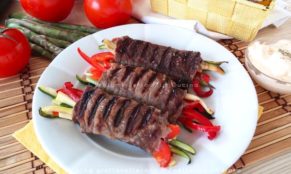 Involtini di Carne con Verdura – Ricetta veloce