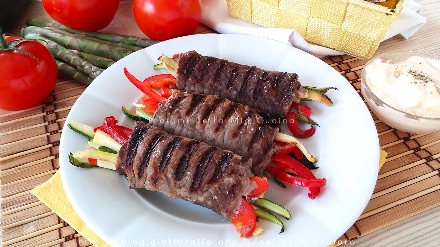 Involtini di Carne con Verdura - Ricetta veloce