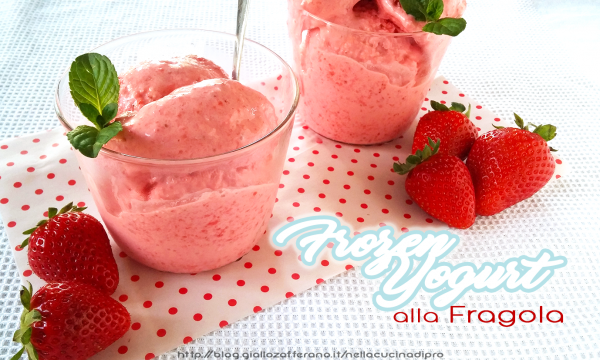 Frozen Yogurt alla Fragola