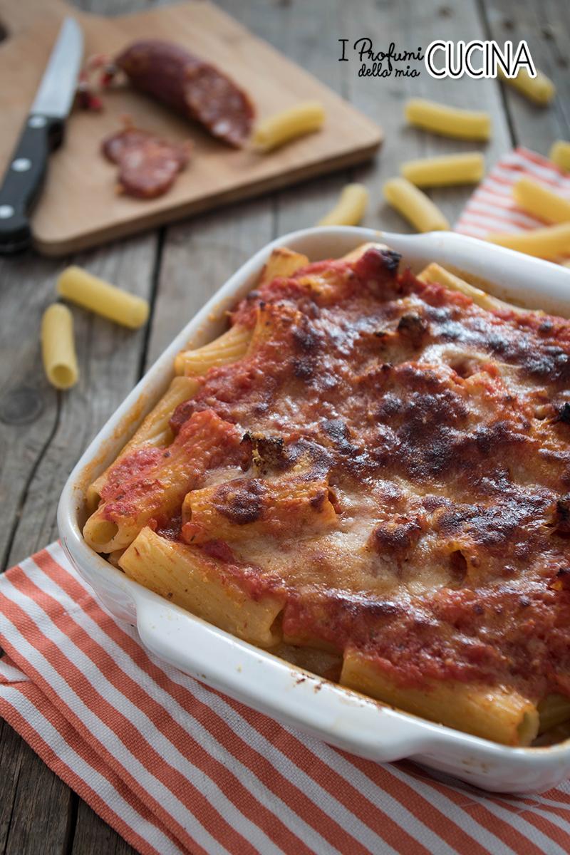 pasta al forno con salamino piccante