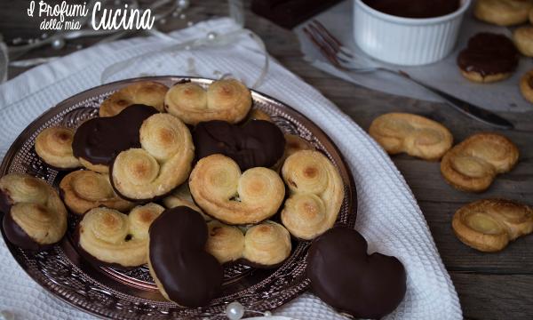 Ventagli di sfoglia con zenzero e cioccolato