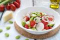 Insalata di Fave Pecorino e Pomodorini
