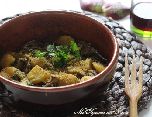 Spezzatino di carciofi e patate gratinato