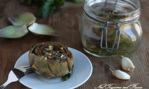 Carciofi in vasocottura - ricetta conserve veloci e dietetiche -