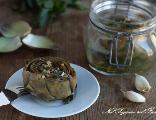 Carciofi in vasocottura – ricetta conserve veloci e dietetiche –
