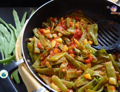 Fagiolini piatti al pomodoro e basilico – ricetta senza glutine –