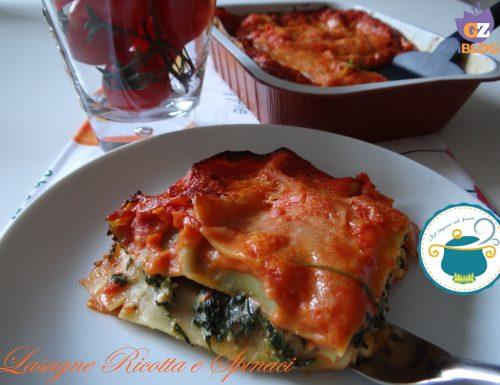 Lasagne ricotta e spinaci – ricetta primo piatto vegetariano-