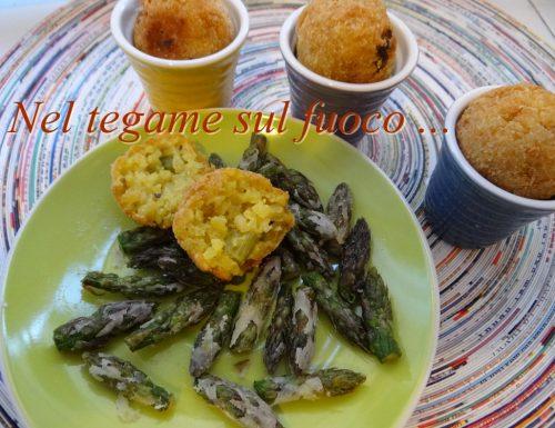 Arancini mignon agli asparagi e mandorle – ricetta senza glutine –