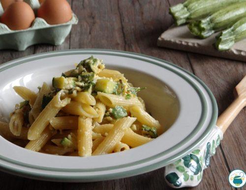 Pasta alla carbonara di zucchine -ricetta primi piatti