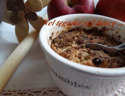 Crumble di mele alla cannella- senza glutine-