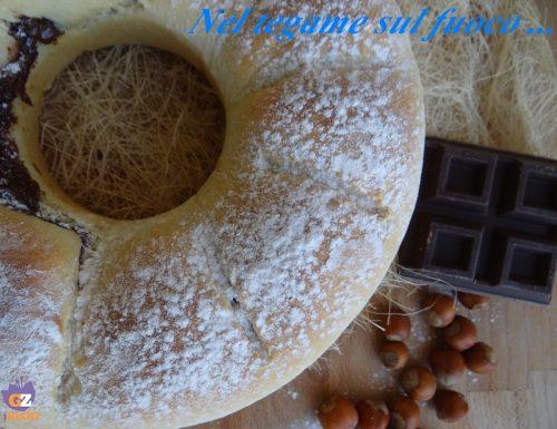 Pandolce ripieno di nutella ricotta e cioccolato fondente