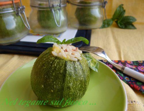 Zucchine ripiene in vasocottura – ricetta primo piatto