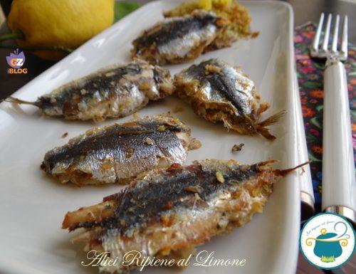 Acciughe ripiene al limone – ricetta di pesce economica –