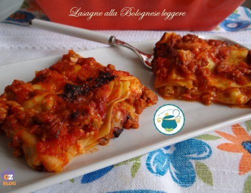 Lasagne alla bolognese leggere – ricetta primi –