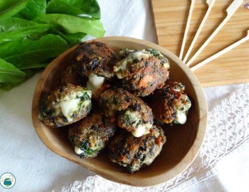 Polpette filanti di carne e spinaci – ricetta piatto unico-