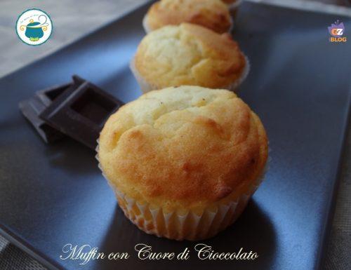 Muffin con cuore di cioccolato – dolce senza glutine-