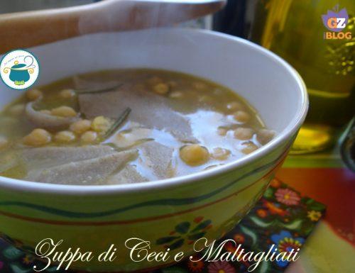 Zuppa di ceci con maltagliati – ricetta primi economici-