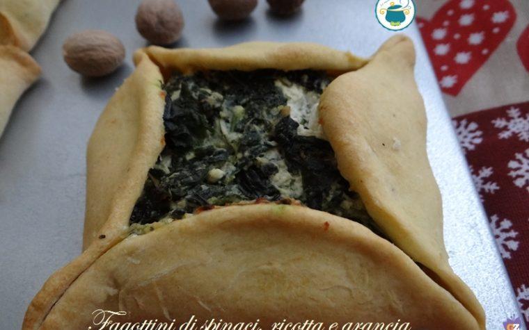 Fagottini con ricotta, spinaci e arancia – ricetta antipasti –