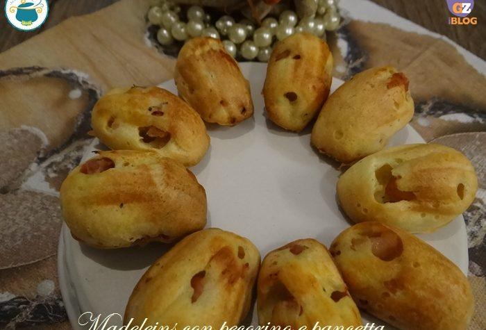 Madeleines salate con pancetta e pecorino – ricetta-