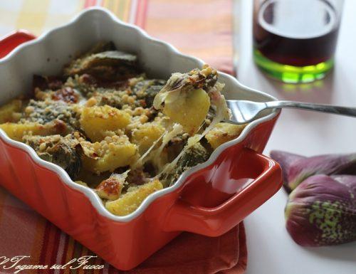 Carciofi e patate gratinati