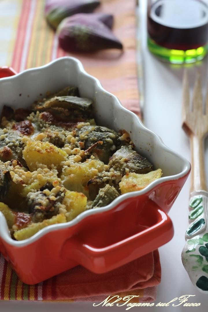 carciofi+patate+al+forno+farciti