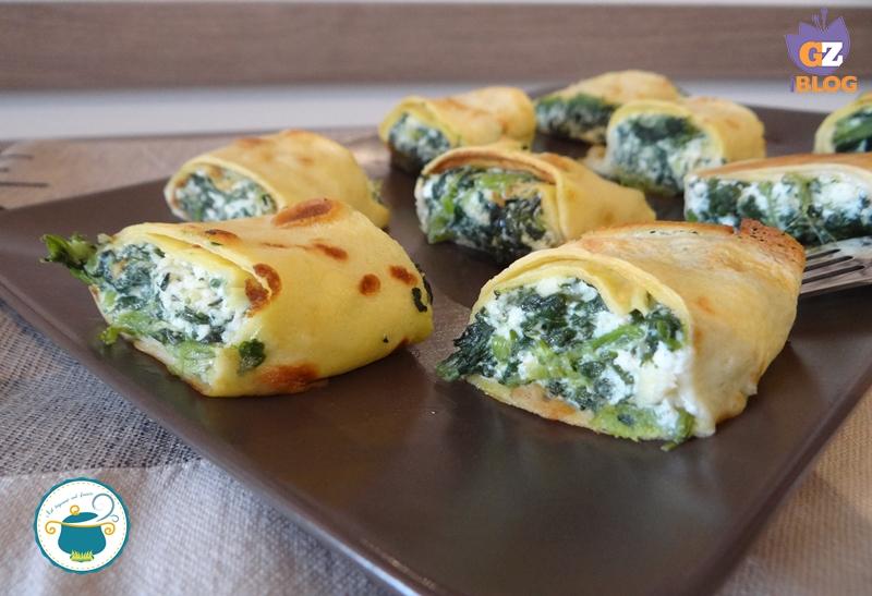 crepe con erbette e spinaci