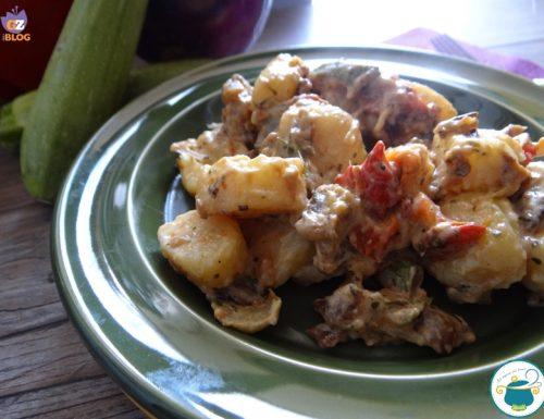 Gnocchi di formaggio con ratatouille grigliata / primo piatto