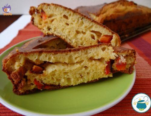 Plumcake salato con peperoni e caprino – torte salate-