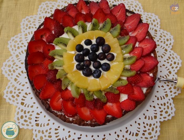 Crostata di frutta e crema chantilly ricetta dolce for Frutta con la o iniziale
