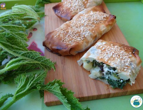 Fagotti di pasta fillo con patate e olive – anche vegani-