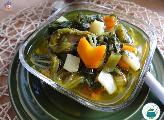 Minestrone estivo con cime di zucchine – ricetta light –