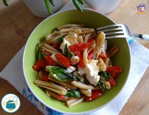 Casarecce con basilico e tomino – primo piatto –
