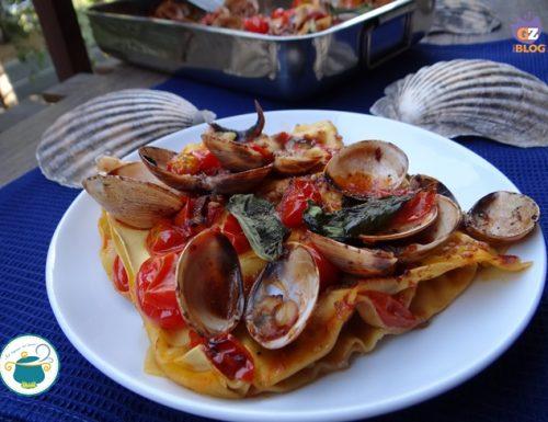 Lasagne di mare al basilico – ricetta primi –