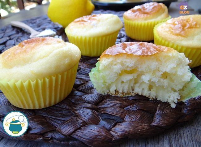 Muffin al limone light – senza glutine e senza zucchero –