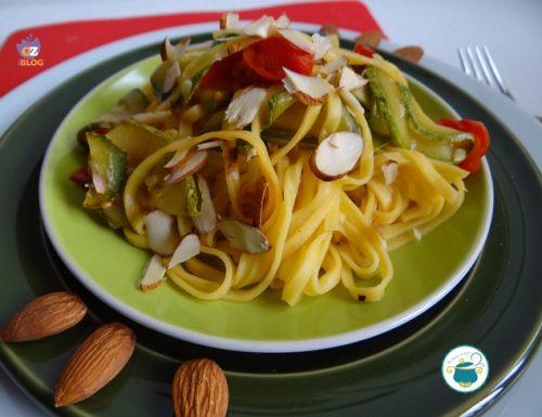 Tagliolini zucchine e mandorle – primo piatto –
