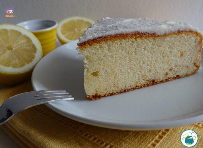 Torta al limone glassata – ricetta dolce facile –