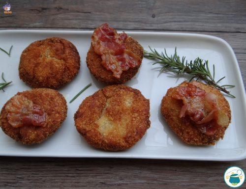 Crocchette di ceci al bacon croccante / ricetta