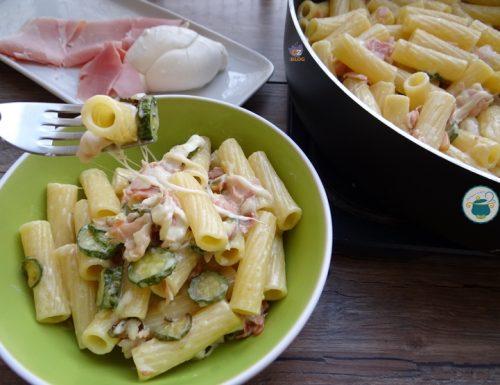 Pasta ricca con zucchine – primo piatto veloce –