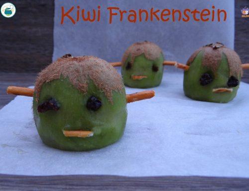 Kiwi Frankenstein / ricetta veloce per Halloween